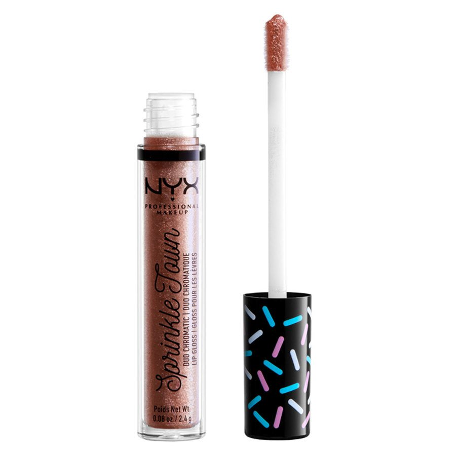 NYX Professional Makeup Sprinkle Town Duo Chromatic Lip Gloss 02 Pot of Gold 2,4g