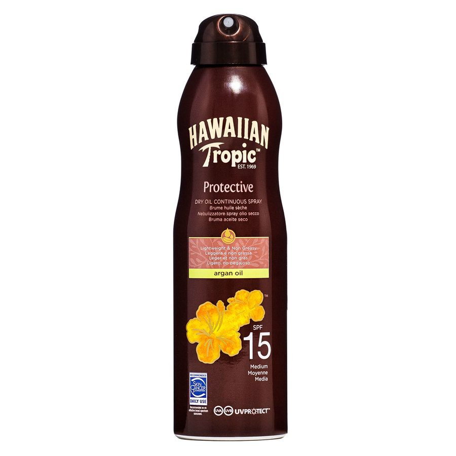 Hawaiian Tropic Protective Dry Oil Continuous Spray Spf15 177ml