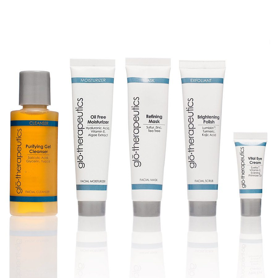 gló•therapeutics Fly With Me Kit Normal To Oily Skin set i 5 delar
