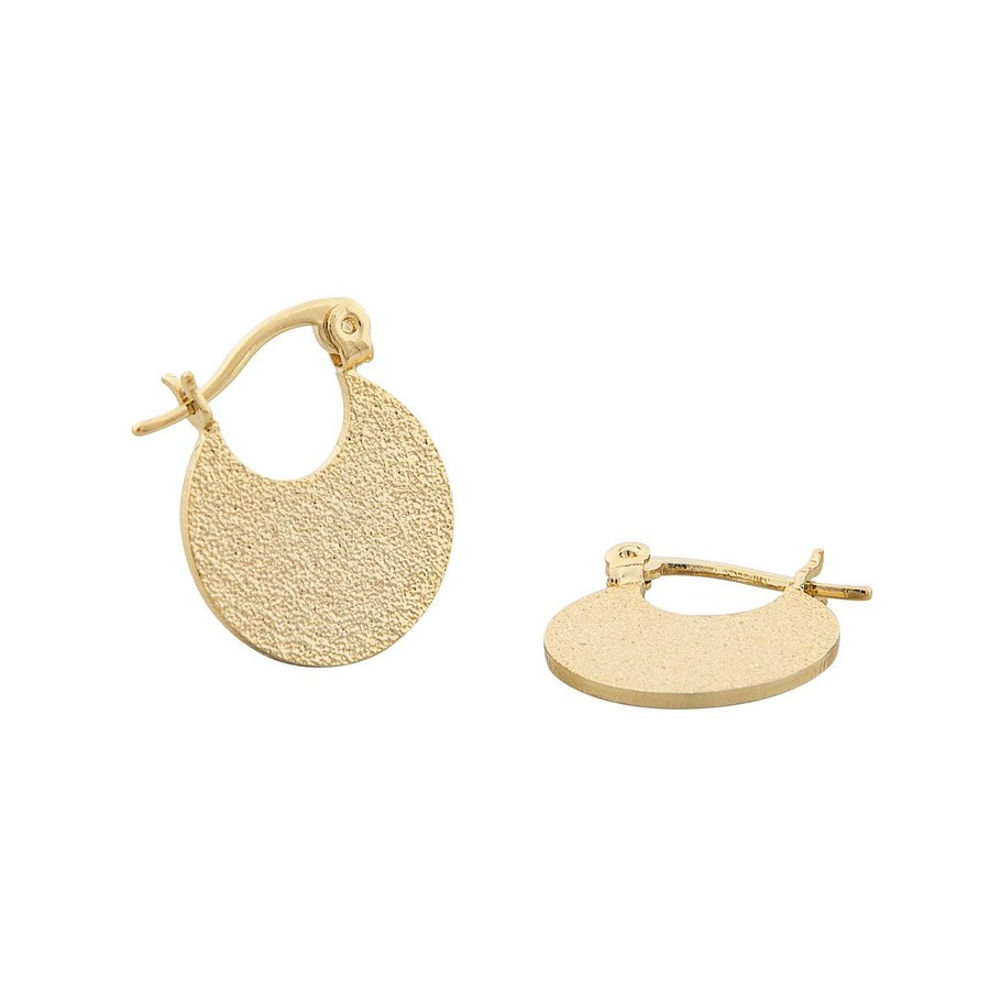 Snö of Sweden Lynx Small Round Earring Plain Gold