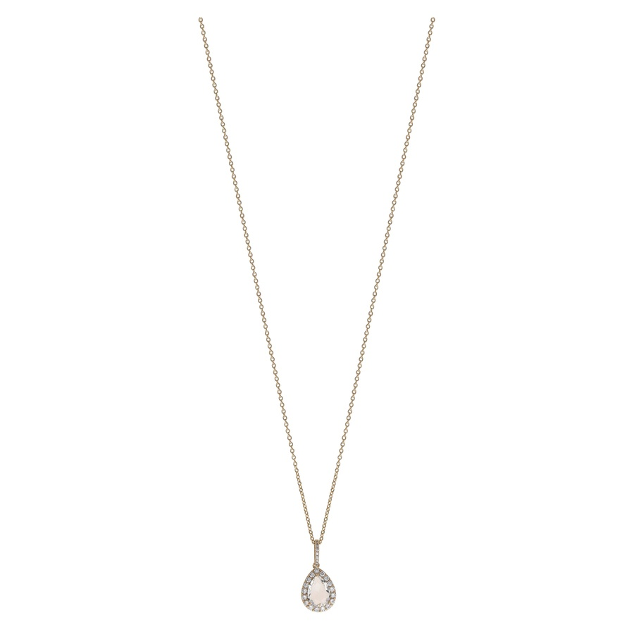 Snö of Sweden Three Pendant Necklace 42 cm Gold/Clear