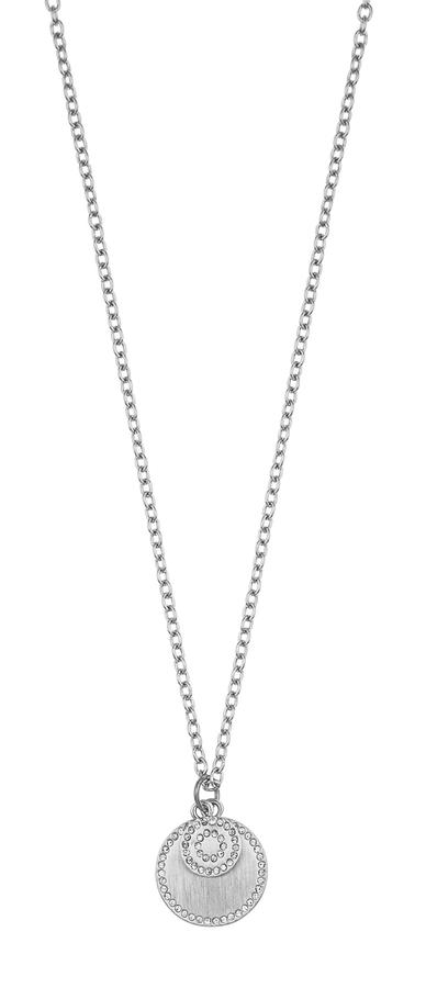 Snö Of Sweden Selma Pendant Necklace Silver/Clear 45 cm