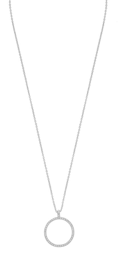 Snö of Sweden Lily Pendant Necklace Silver/Clear