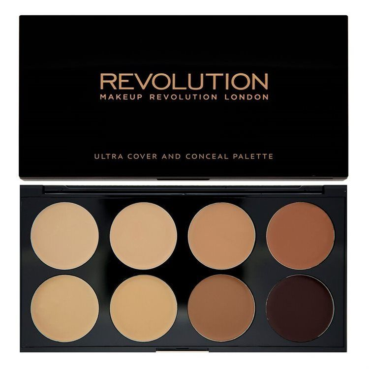 Makeup Revolution Ultra Cover and Conceal Palette-Medium Dark 10 g