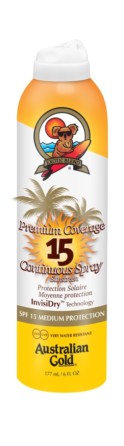 Australian Gold Premium Coverage Continuous Spray SPF 15 177 ml