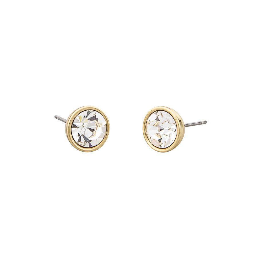 Snö of Sweden Caroline Small Earring Gold/Clear