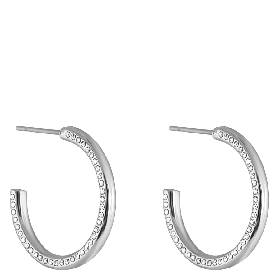 Snö of Sweden Adara Oval Earring Silver/Clear