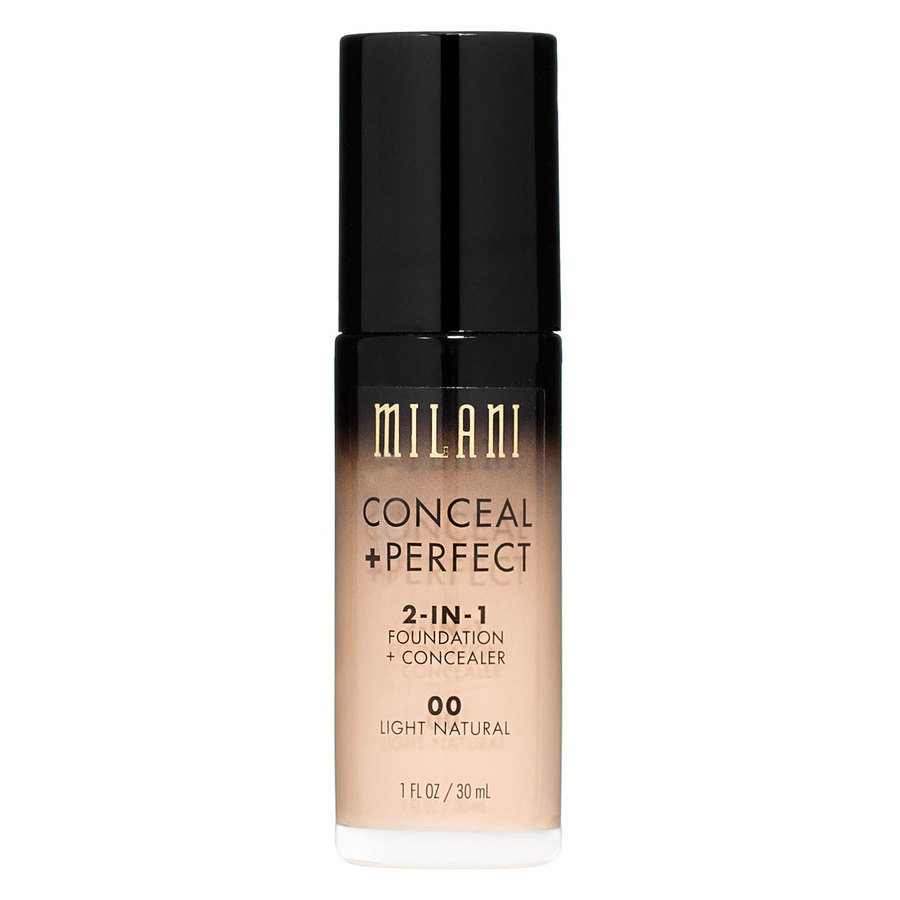 Milani Conceal & Perfect 2 In 1 Foundation + Concealer Light Natural 30ml