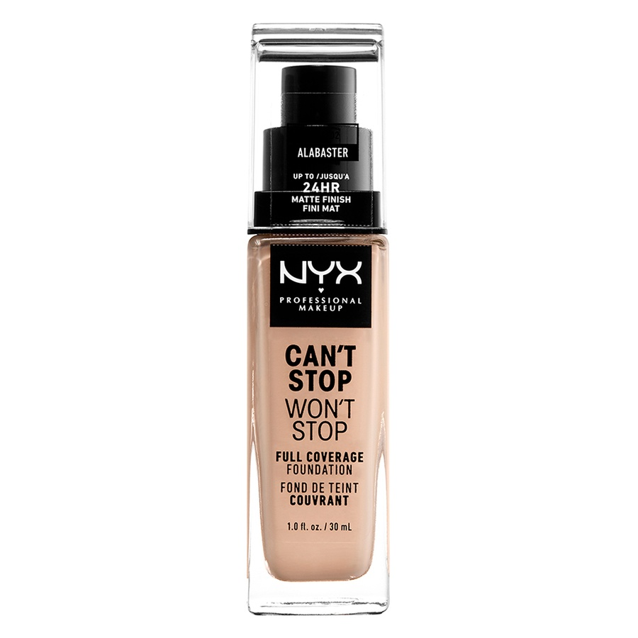 NYX Professional Makeup Can't Stop Won't Stop Full Coverage Foundation Alabaster 30 ml
