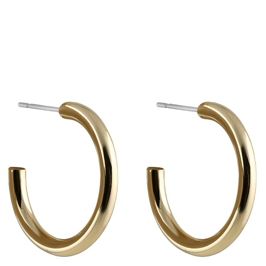 Snö of Sweden Adara Oval Earring Plain Gold 26 mm