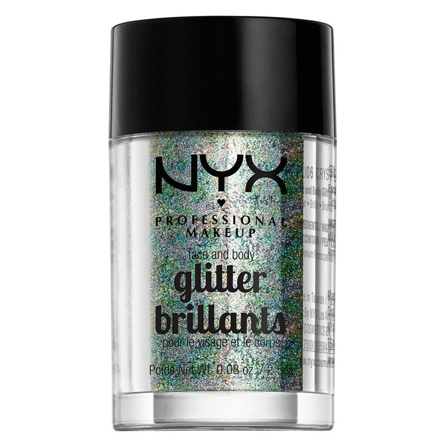 NYX Professional Makeup Face And Body Glitter Brilliants Crystal GLI06 2,5 g