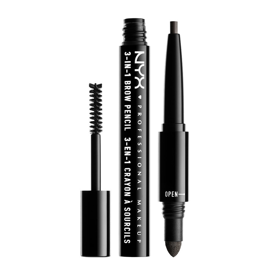 NYX Prof. Makeup 3-In-1 Brow Black 31B10