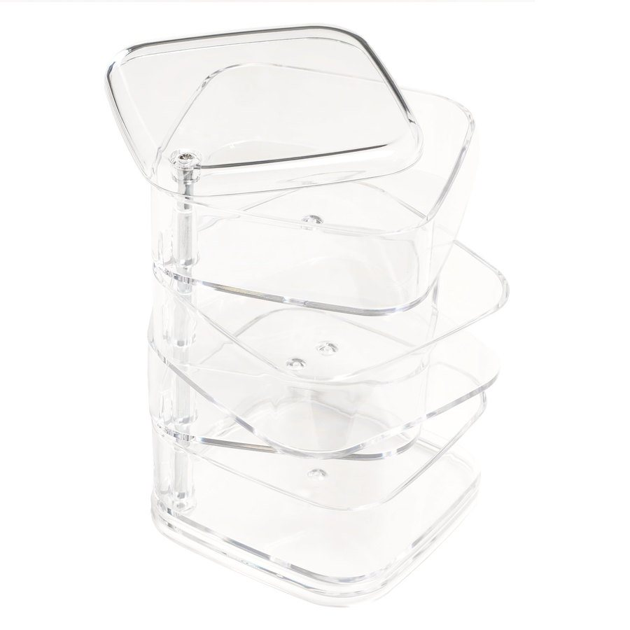 Shelas Cosmetic Organizer 4 Layer Square Swivel Box