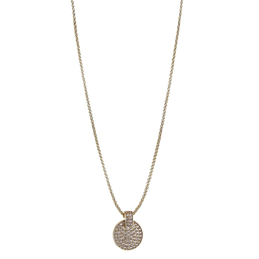 Snö of Sweden Carrie Pendant Necklace Gold/Clear