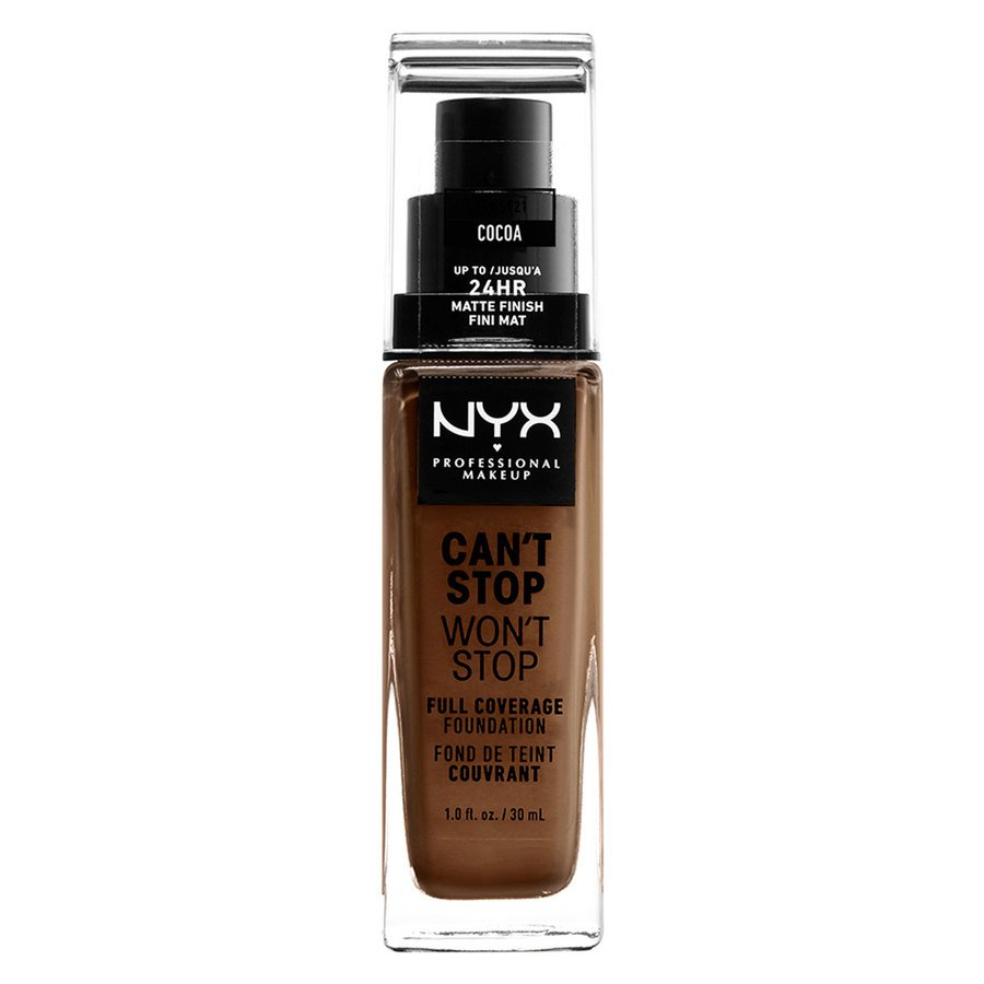 NYX Professional Makeup Can't Stop Won't Stop Full Coverage Foundation Cocoa 30 ml