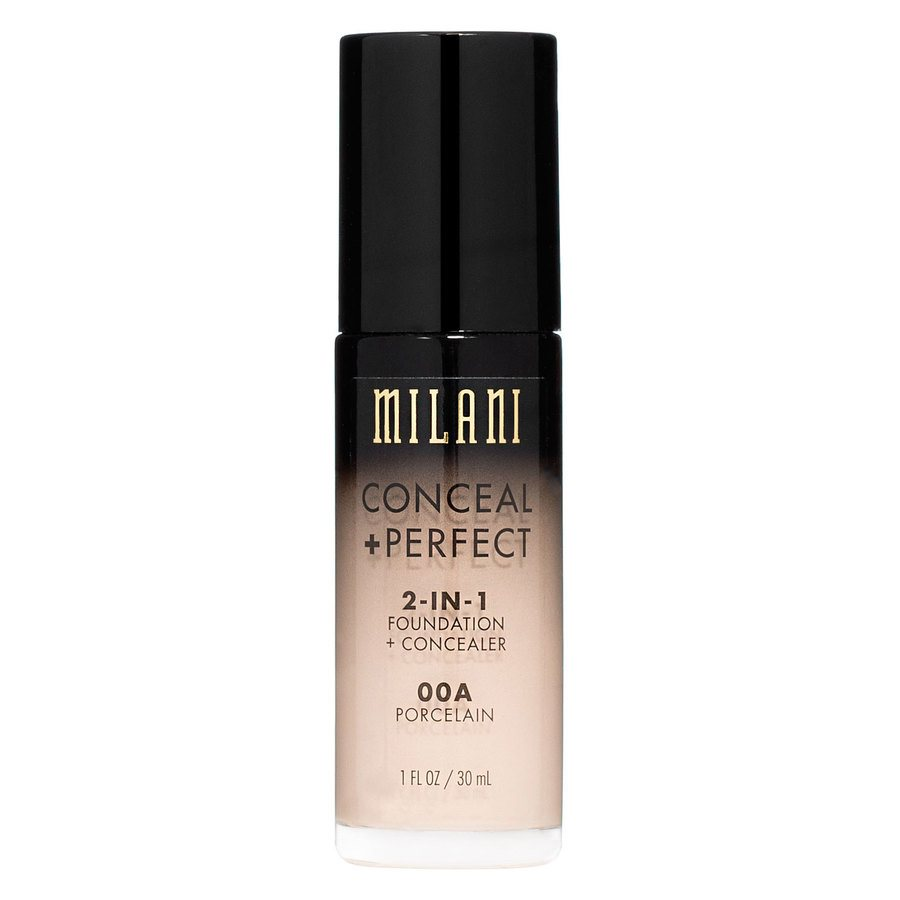 Milani Conceal & Perfect 2 In 1 Foundation + Concealer Porcelain 30ml