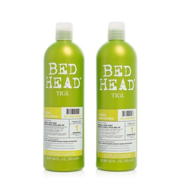 TIGI Bed Head Urban Antidotes Re-Energize Shampoo & Conditioner 2 x 750 ml