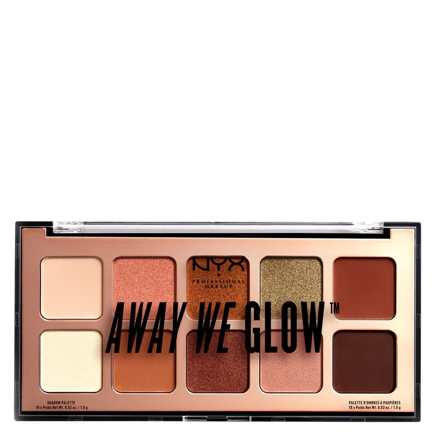 NYX Professional Makeup Away We Glow Shadow Shade 02 Hooked On Glow 10 x 1,0g