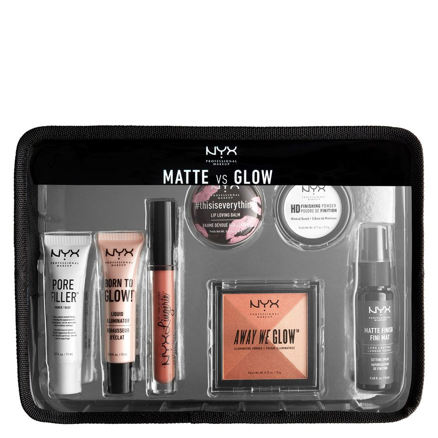 NYX Prof. Makeup Matte vs. Glow Jet Set Travel Kit