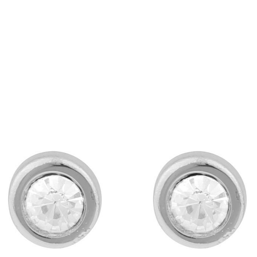 Snö of Sweden Keira Small Stone Earring Silver/Clear