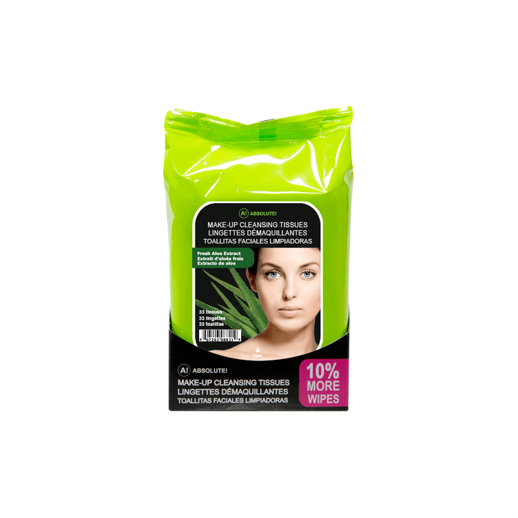 Absolute New York Make-Up Cleansing Tissues Fresh Aloe Extract 33 st