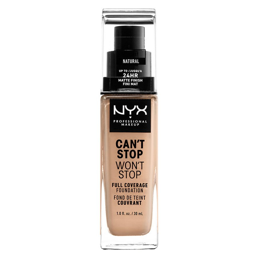 NYX Professional Makeup Can't Stop Won't Stop Full Coverage Foundation Natural 30 ml