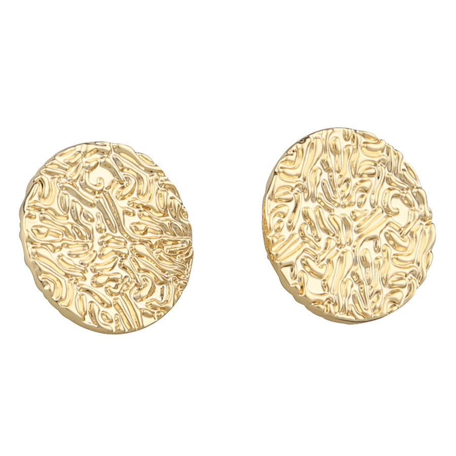 Snö of Sweden Penny Small Coin Earring Plain Gold