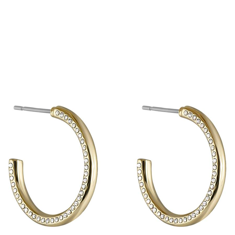 Snö of Sweden Adara Oval Earring Gold/Clear