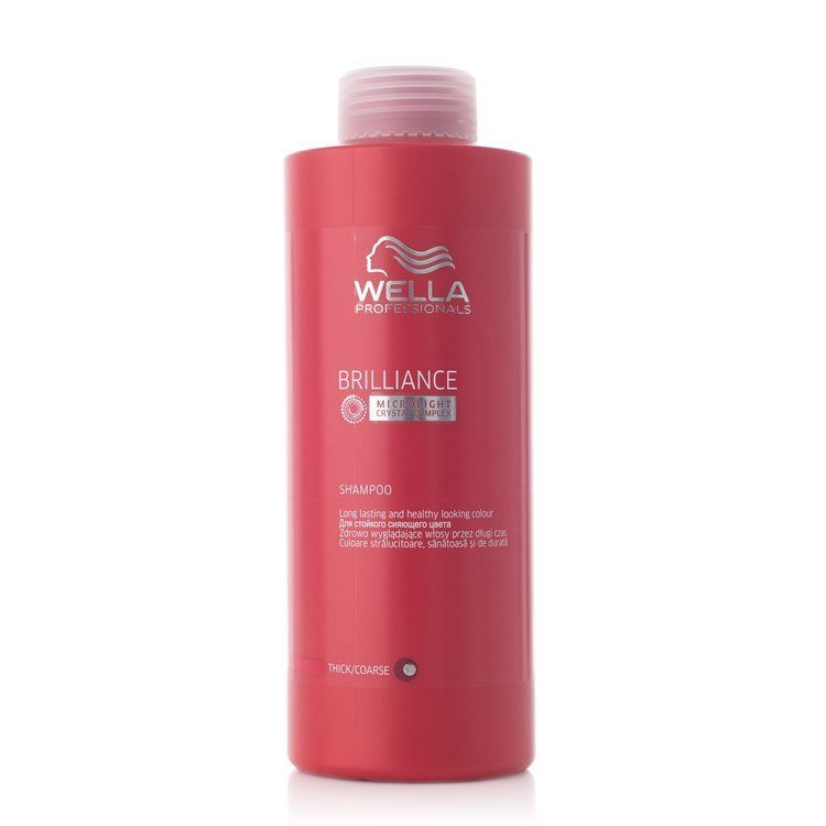Wella Professionals Brilliance Shampoo Grovt/Tjockt Hår 1000ml