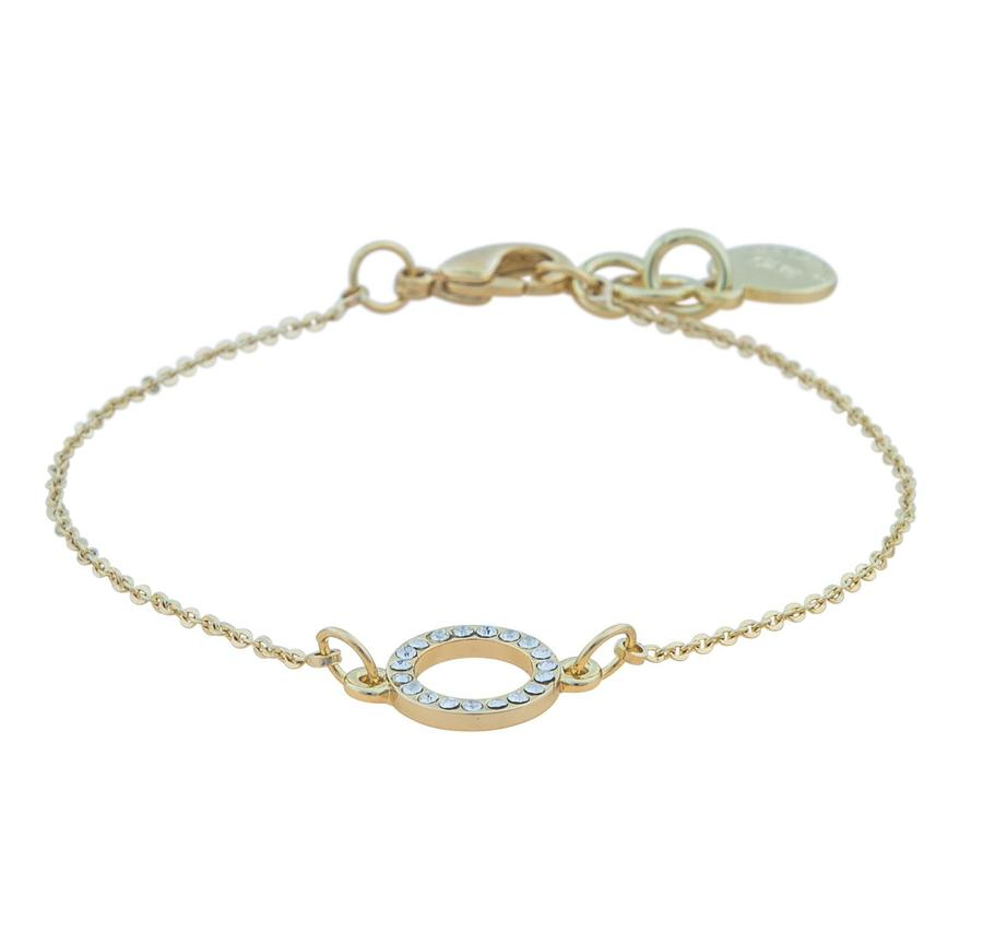 Snö of Sweden Lily Chain Bracelet Gold/Clear