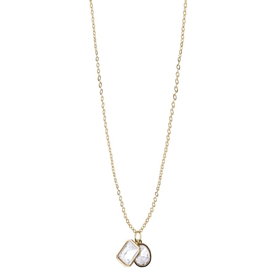 Snö of Sweden Twice Pendant Necklace Gold/Clear