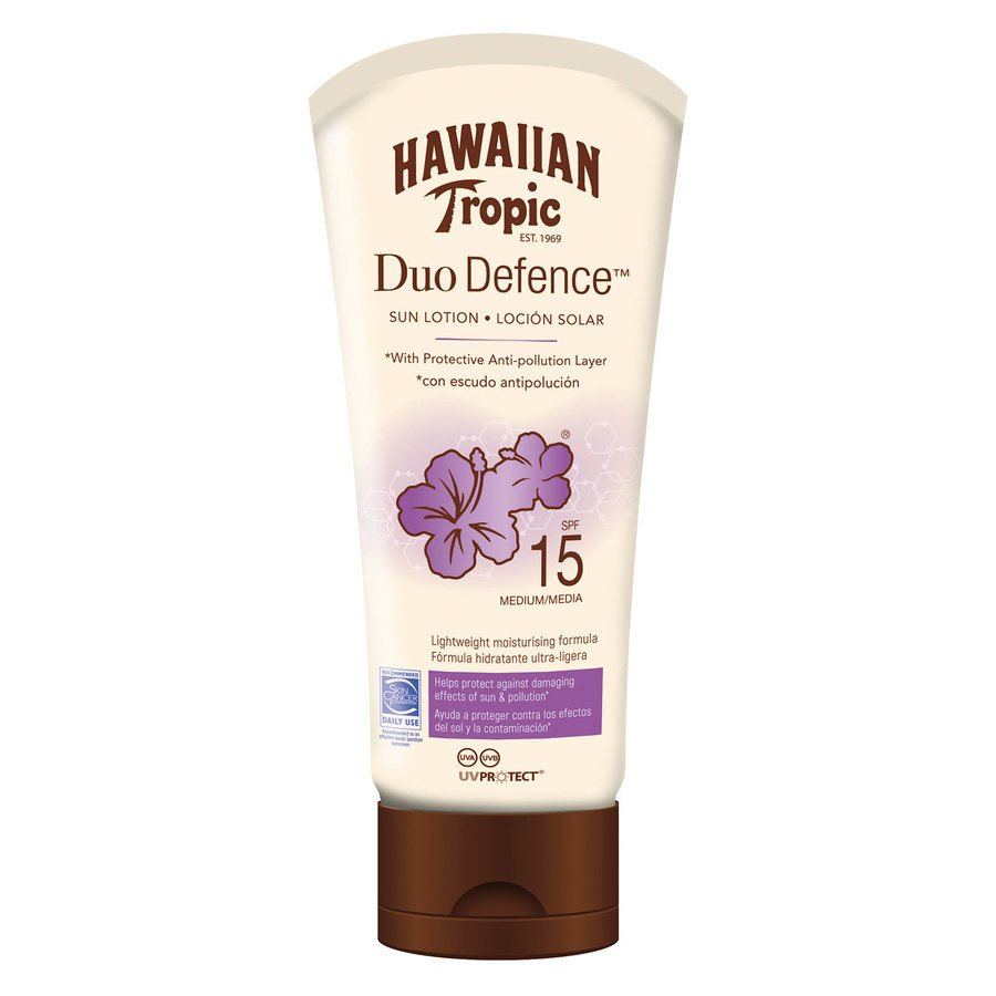 Hawaiian DuoDefence Sun Lotion SPF15 180 ml