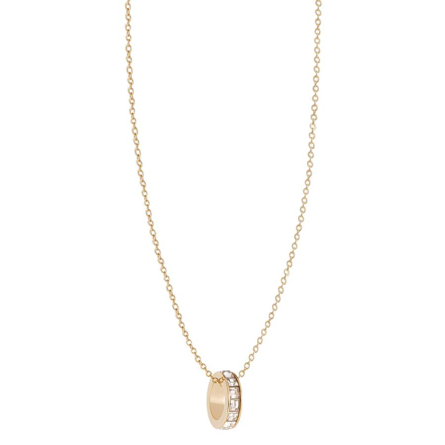 Snö of Sweden Trio Ring Pendant Necklace Gold/Clear