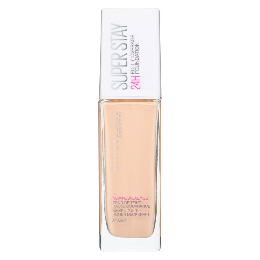 Maybelline Super Stay 24 h Full Coverage Foundation, 30 Sand (30 ml)