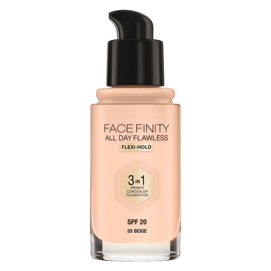 Max Factor Facefinity All Day Flawless 3-in-1 Foundation #55 Beige 30 ml
