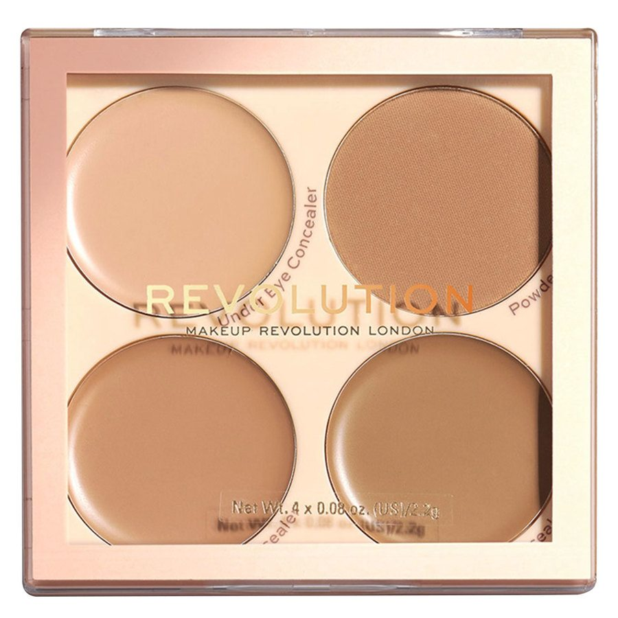Makeup Revolution Matte Base Concealer Kit, C9-C12