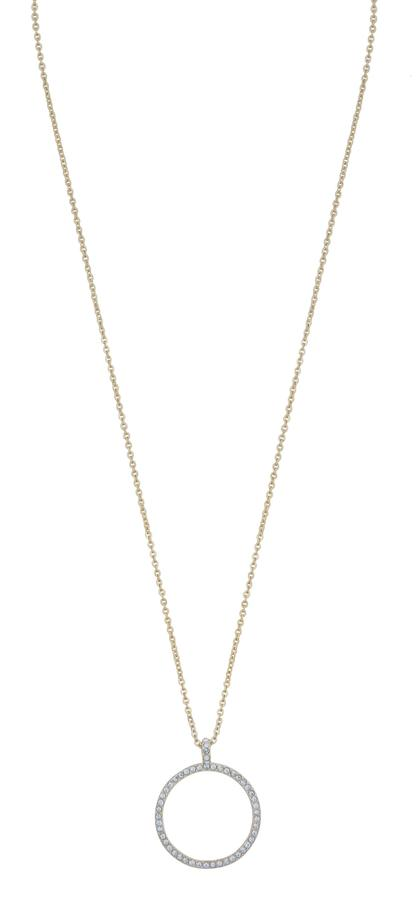 Snö of Sweden Lily Pendant Necklace Gold/Clear