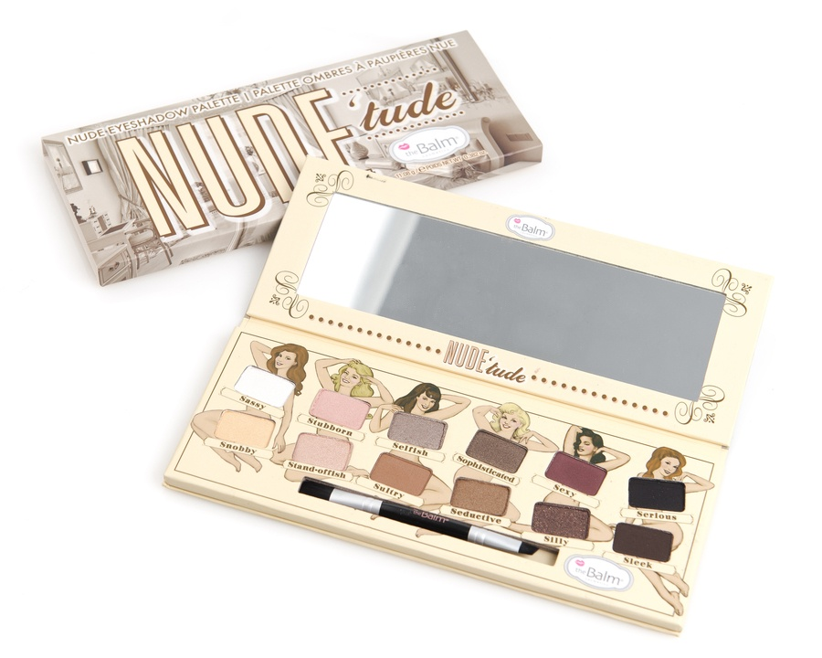 The Balm Nude'Tude Eyeshadow Palette 12 Färger I Ett Set