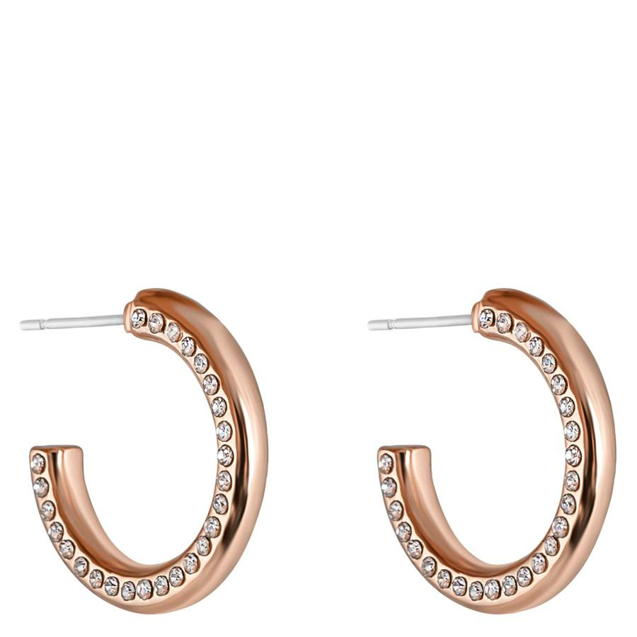 Snö of Sweden Adara Small Oval Earring Rosé/Clear