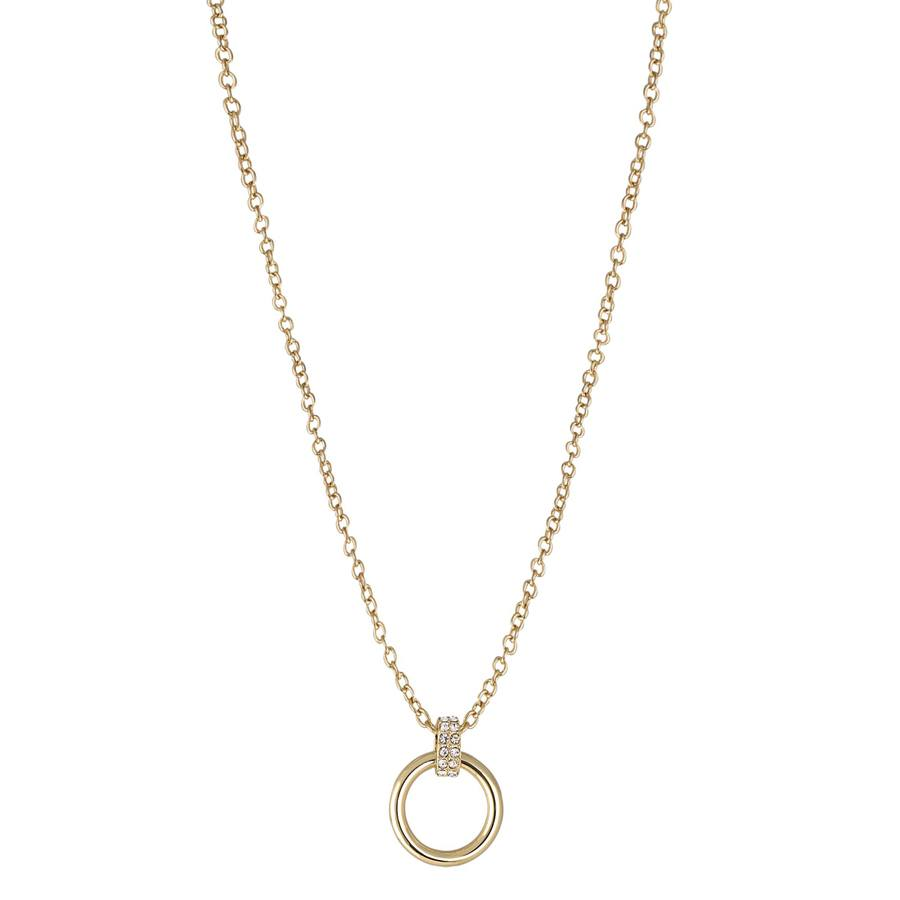 Snö of Sweden Adara Pendant Necklace Gold/Clear