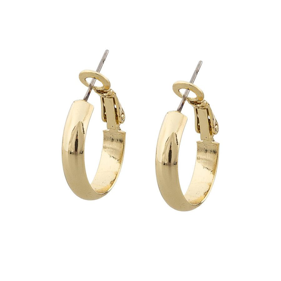 Snö of Sweden Donna Small Ring Earring Plain Gold