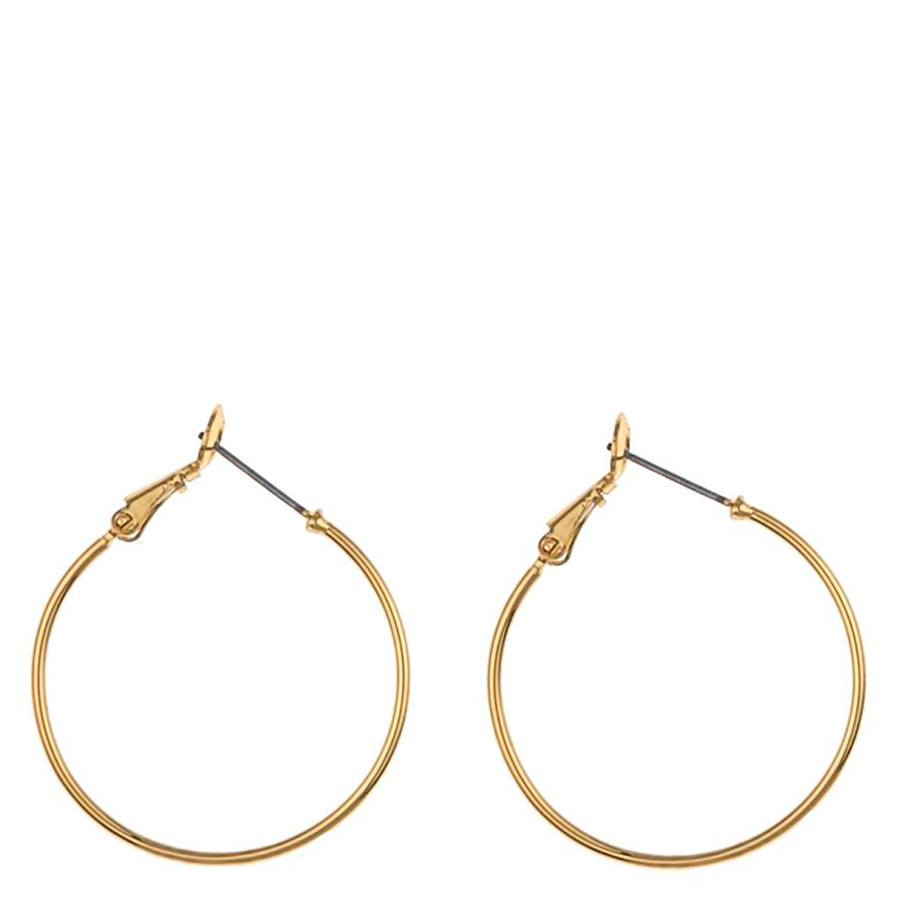Snö Of Sweden Mystic Ring Earring, Plain Gold (30 mm)