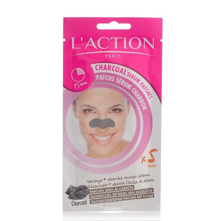 L'Action Paris Charcoal Sebum Patches 5 st.