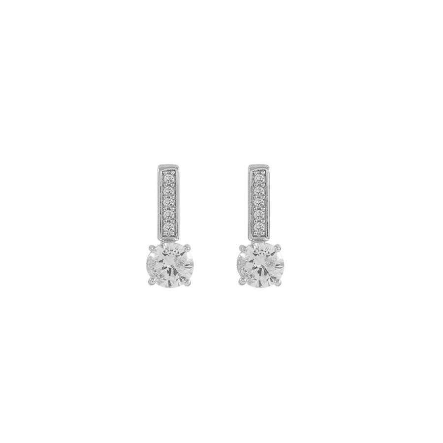Snö of Sweden Elaine Small Earring Silver/Clear