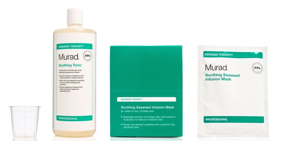 Murad Soothing Seaweed Infusion Mask 15-pack & Tonic Water