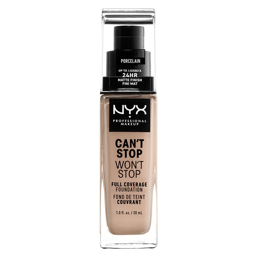 NYX Professional Makeup Can't Stop Won't Stop Full Coverage Foundation Porcelain 30 ml