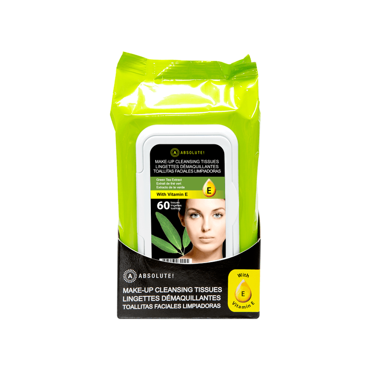 Absolute New York Make-Up Cleansing Tissues Green Tea Extract 60 st