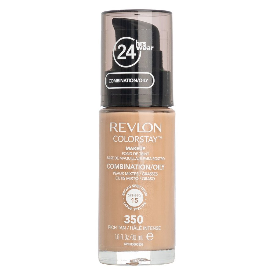 Revlon ColorStay With Pump makeup combination/oily skin 350 Rich Tan 30 ml