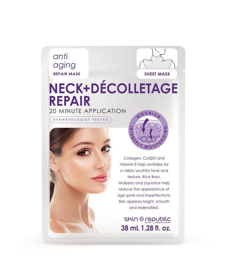 Skin Republic Neck+Dècolletage Repair Anti Ageing Repair Mask 38 ml