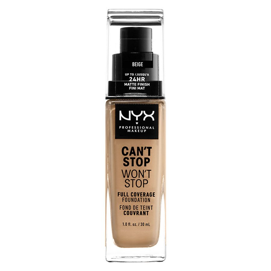 NYX Professional Makeup Can't Stop Won't Stop Full Coverage Foundation Beige 30 ml